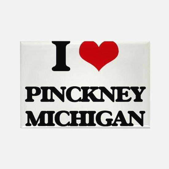 I love Pinckney Michigan Magnets