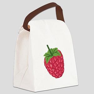 Raspberry Canvas Lunch Bag