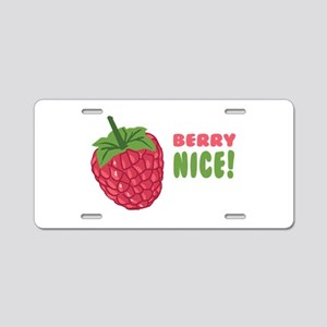 Berry Nice Aluminum License Plate