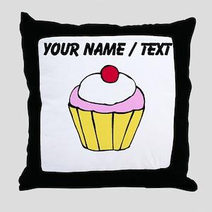 Cherry Cupcake (Custom) Throw Pillow