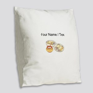 Crepes (Custom) Burlap Throw Pillow