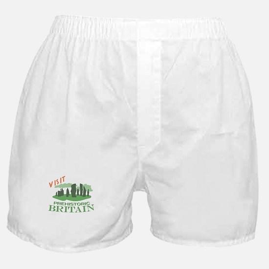 Visit Prehistoric Britain Boxer Shorts