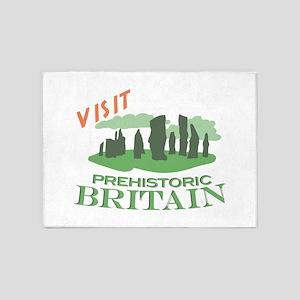 Visit Prehistoric Britain 5'x7'Area Rug