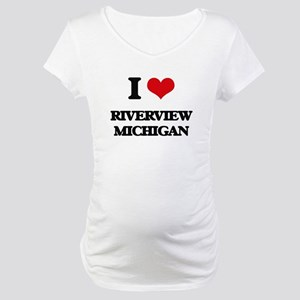 I love Riverview Michigan Maternity T-Shirt