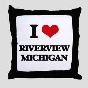 I love Riverview Michigan Throw Pillow