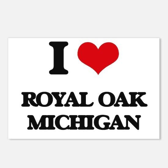 I love Royal Oak Michigan Postcards (Package of 8)