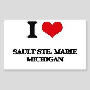 I love Sault Ste. Marie Michigan Sticker