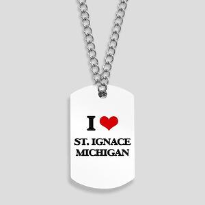 I love St. Ignace Michigan Dog Tags
