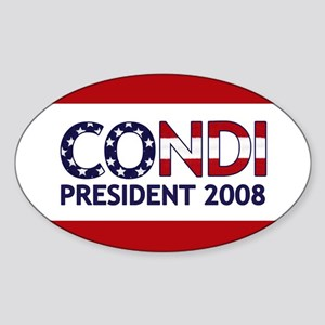 CONDI PRESIDENT 2008 Oval Sticker