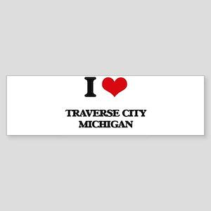 I love Traverse City Michigan Bumper Sticker