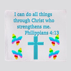 PHILIPPIANS 4:13 Throw Blanket