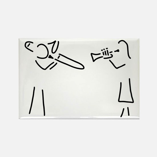 trombone trumpet player brass player Magnets