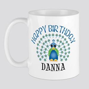 Happy Birthday DANNA (peacock Mug