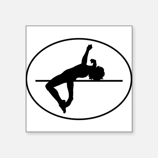 High Jump Silhouette Oval Sticker