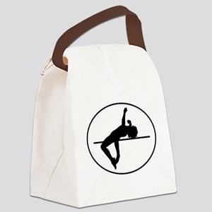 High Jump Silhouette Oval Canvas Lunch Bag