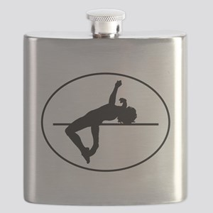 High Jump Silhouette Oval Flask