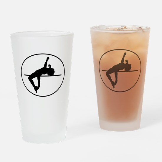 High Jump Silhouette Oval Drinking Glass