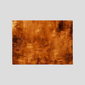 Beautiful brown artistic brush texture 5'x7'Area R