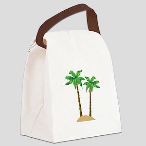 Coconut Palms Canvas Lunch Bag
