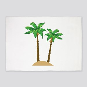 Coconut Palms 5'x7'Area Rug