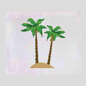 Coconut Palms Throw Blanket
