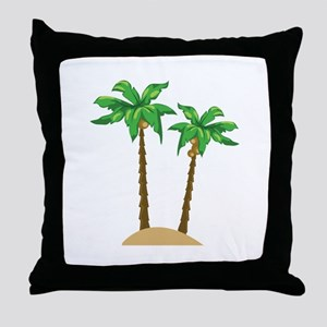Coconut Palms Throw Pillow