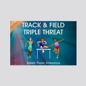 Women's Track and Field Slogan Rectangle Magnet