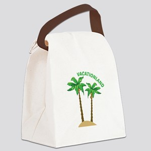 Vacationland Canvas Lunch Bag