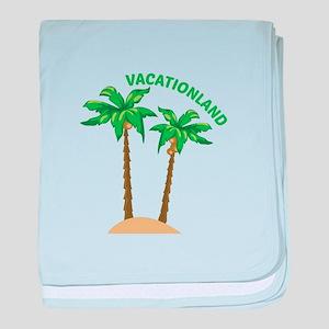 Vacationland baby blanket