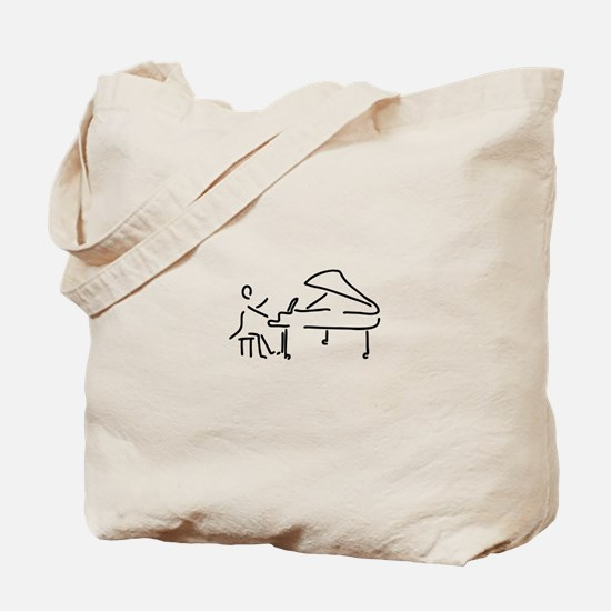 pianist piano player wing Tote Bag