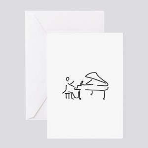 pianist piano player wing Greeting Cards