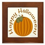 Happy Halloween! Framed Tile