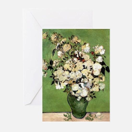 Van Gogh Roses Greeting Cards