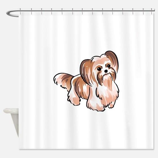 MI KI DOG Shower Curtain