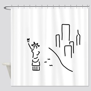 new York the statue of Liberty empi Shower Curtain