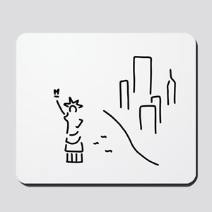 new York the statue of Liberty empire sk Mousepad