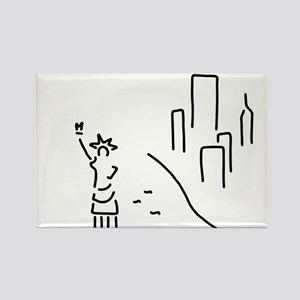 new York the statue of Liberty empire skys Magnets