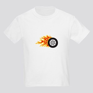 RACING WHEEL WITH FLAMES T-Shirt