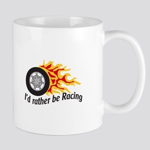 ID RATHER BE RACING Mugs