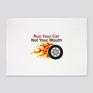 RUN CAR NOT MOUTH 5'x7'Area Rug