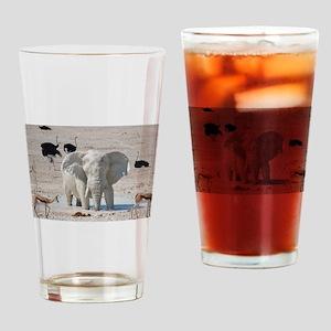 White mud elephant Drinking Glass