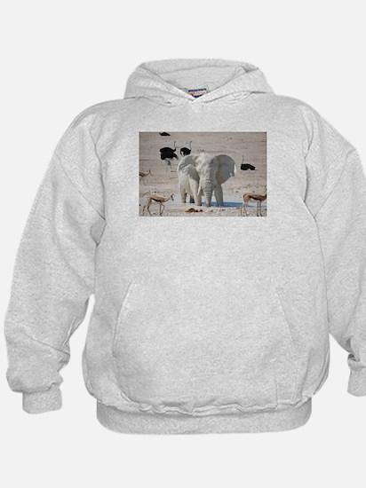White mud elephant Hoodie
