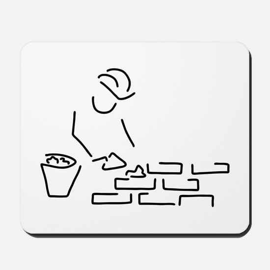 bricklayer construction worker building Mousepad
