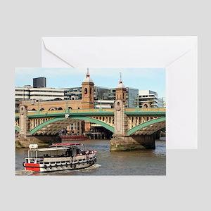 Southwark Bridge, Thames River, Lond Greeting Card
