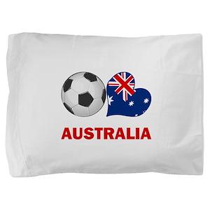 SOCCER-peace-love-australia Pillow Sham