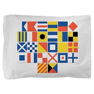 Nautical Flags Pillow Sham