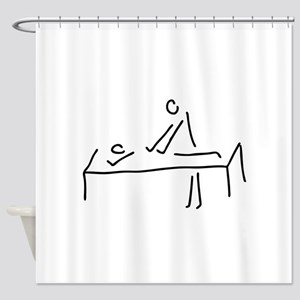 massages, physiotherapist Shower Curtain