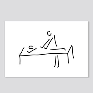 massages, physiotherapist Postcards (Package of 8)