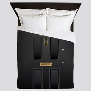 221B Baker Street Door Queen Duvet