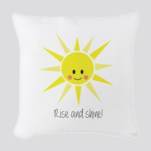 Rise and Shine Woven Throw Pillow